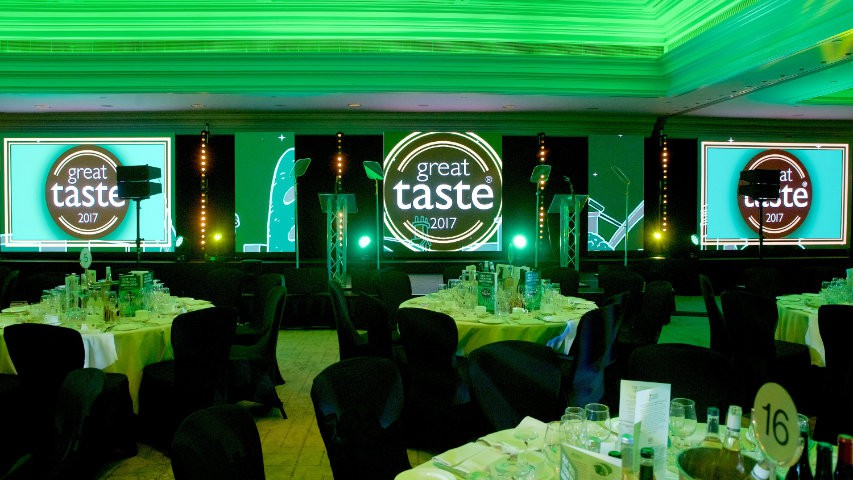 Our widest screen yet at Great Taste Awards