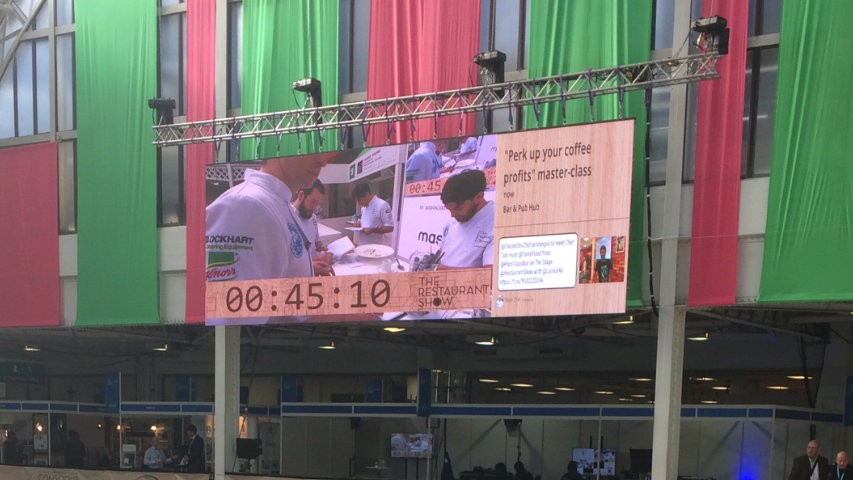 Restaurant Show led screen